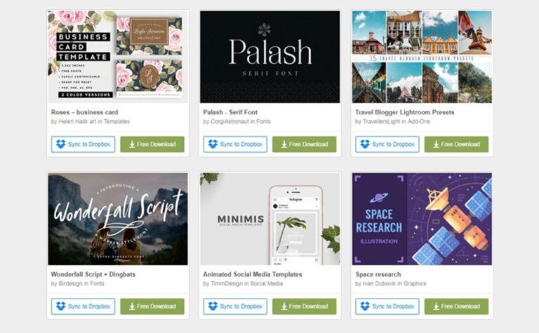 【毎週更新!】Creative Marketでおしゃれな素材を無料ダウンロード!