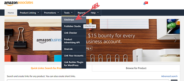 海外アマゾンアソシエイトのツールバー【SiteStripe】の設置方法